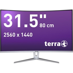 [3030031] TERRA LED 3280W silver/white CURVED DP/HDMI